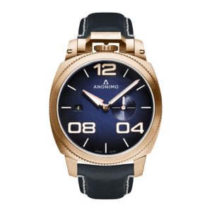 Anonimo Militare Automatic Bronze Case Watch Blue Scratched Dial Watch product image