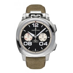 Anonimo Militare Chrono Stainless Steel Black Dial Watch product image