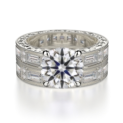 Round Cut With Baguette Sapphire Stone SJ-R1042-2.5 product image