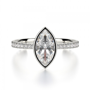 Marquise Cut With Diamond On Shank SJ-R1026-1 product image
