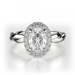 Oval Cut Halo With Twisted Shank SJ-R1013-1 product image