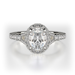 Oval Cut Halo With Split Shank SJ-R1014-1 product image
