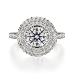 Round Cut Double Halo With Diamond On Shank SJ-R1016-1 product image