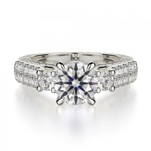 Round Cut With Side Diamonds SJ-R1040-1 product image